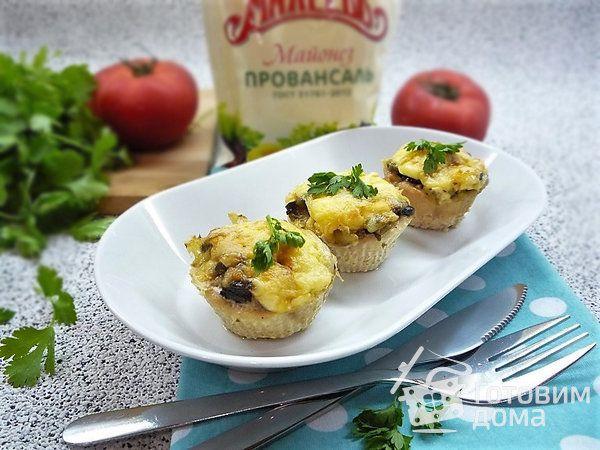 Куриные тарталетки с грибами - пошаговый рецепт с фото на ...