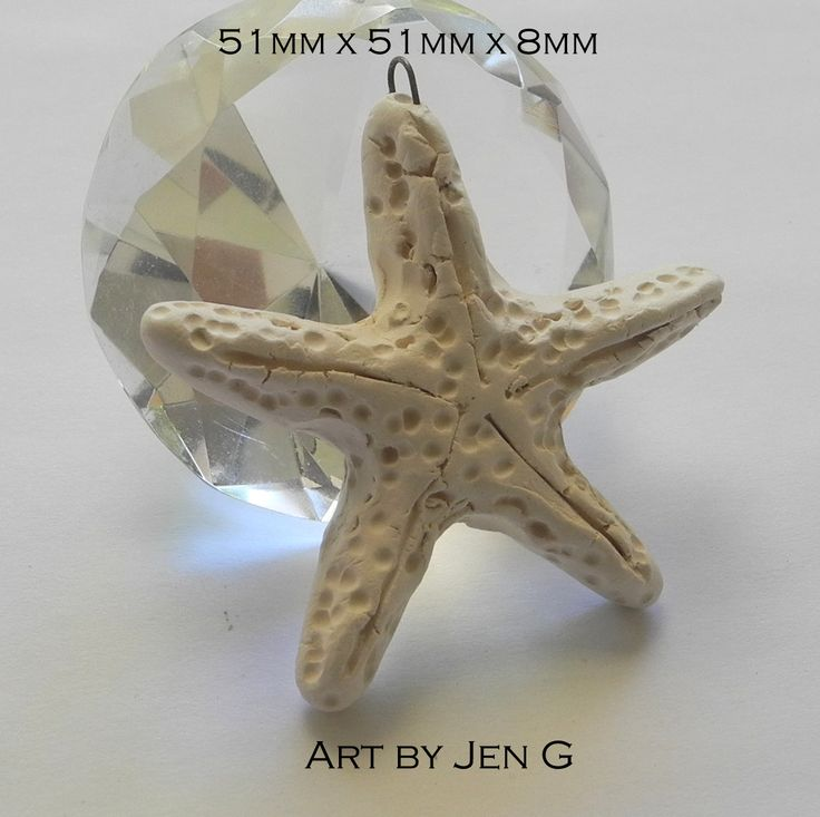Hand sculpted starfish pendant, made by me :D