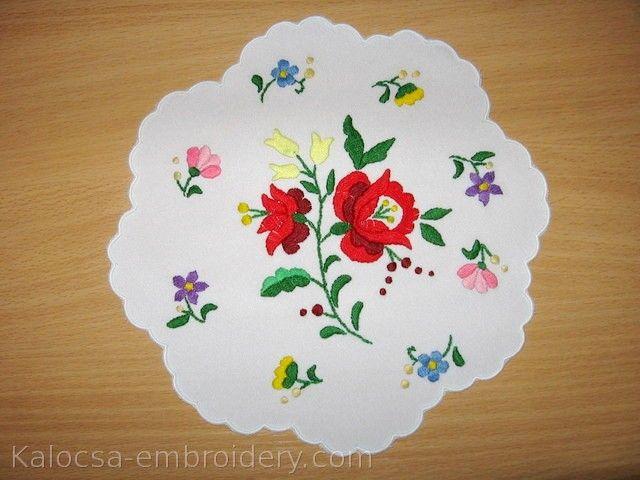 Kalocsa Embroidery Doily