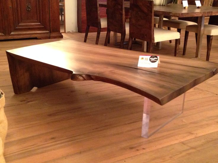 Amazing Lucite And Raw Wood Is A Fantastic Duo   From Taracea In Radio Bldg #hpmkt