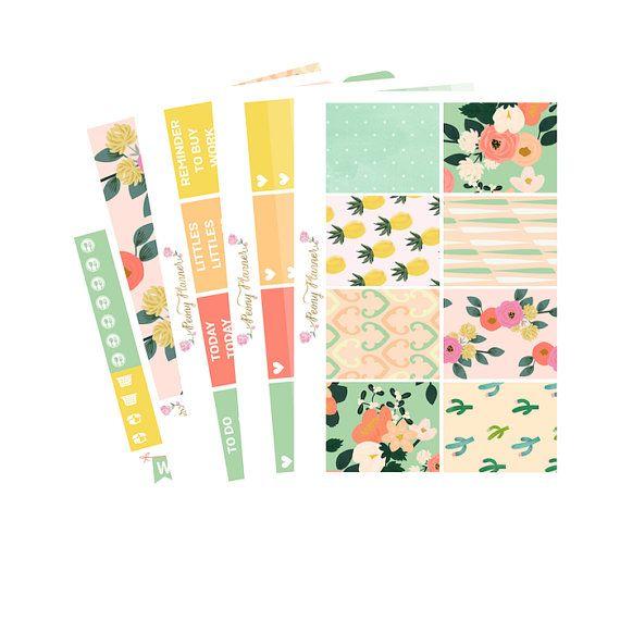 Floral Sorbet Full Kit  Erin Condren Planner by PeonyPlanner