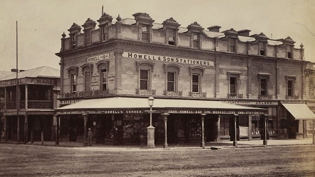 Howell's shop, Hindley St Adelaide 1876