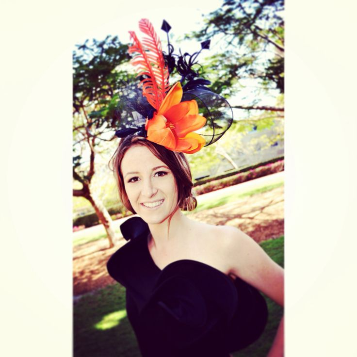 Our newest favorite item is the Orange Spring.  #races #robinatowncentre #thehatstore #robina #fascinator #australia #melbournecup #fashion #headwear #racewear #headdress #style