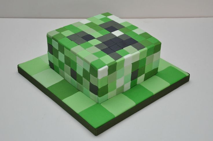 Minecraft Creeper Cake for an 11 year old by Finesse Cakes