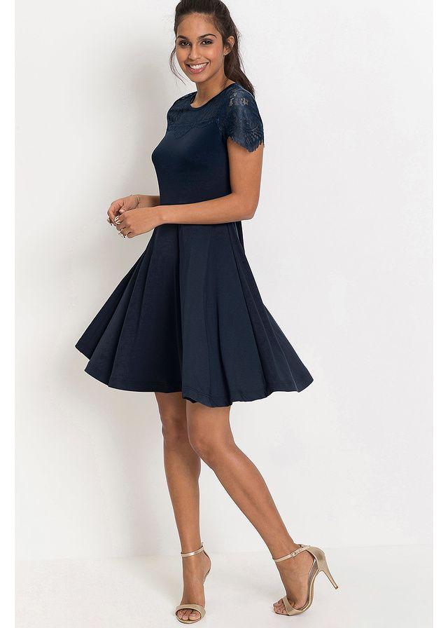 Granatowa sukienka z dżerseju na wesele   http://fashion4u.pl