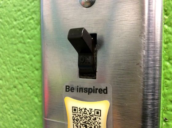 An new way to use QR codes in the classroom!