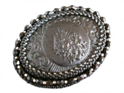 Vintage brooch (proj. kry ma. art), do kupienia w DecoBazaar.com