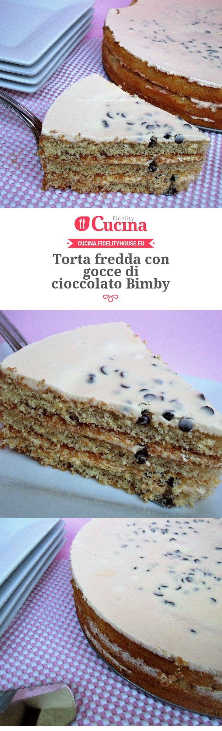 Torta fredda con gocce di cioccolato Bimby