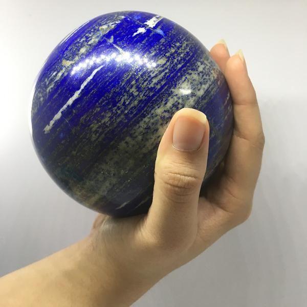 2.2 Kg, 10.2 Cm Round Polished Lapis Lazuli Sphere Ball