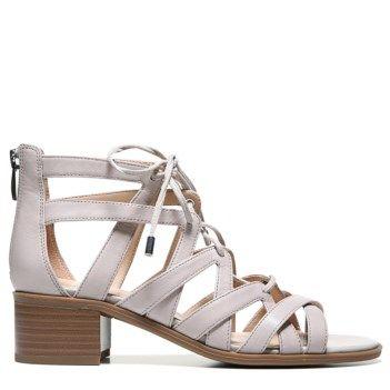 Franco Sarto Women S Ocean Lace Up Sandal Satin Taupe