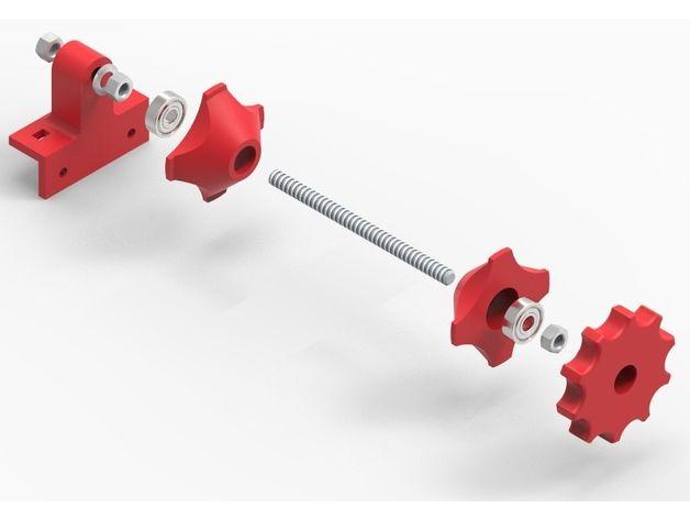 Spool Holder for Aluminium 2020-3030-4040(Hypercube) by azorko - Thingiverse