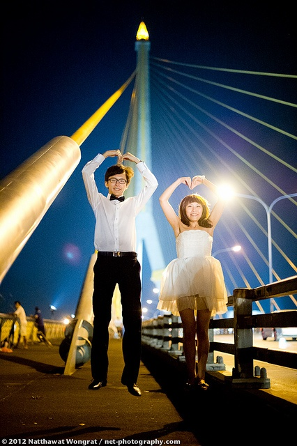 Bangkok Pre-Wedding at Rama VIII Bridge | พรีเวดดิ้ง สะพานพระราม 8 | Bangkok Wedding Photographer by NET-Photography | Thailand Pro Photographer, via Flickr