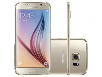"""Smartphone Samsung Galaxy S6 32GB Dourado 4G - Câm. 16MP + Selfie 5MP Tela 5.1""""…"""