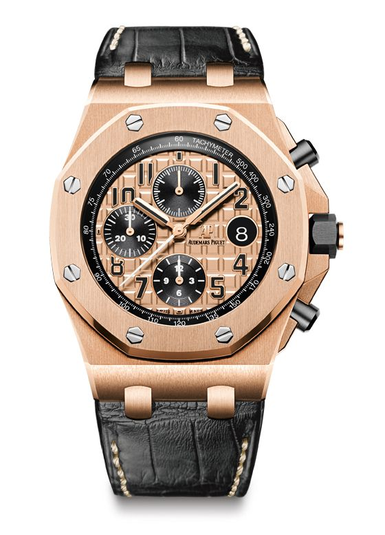 Ref. 264700R.00.A002CR.01, with 18k rose gold case and rose-gold-colored dial, black counters, black numerals, rose-gold hands, black inner bezel, and black alligator strap ($40,700)