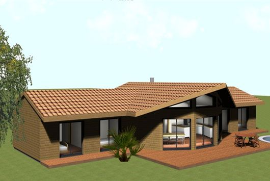 Maison bois demi ronde oriane de plain pied jusqu 39 for Plan de maison bois rond