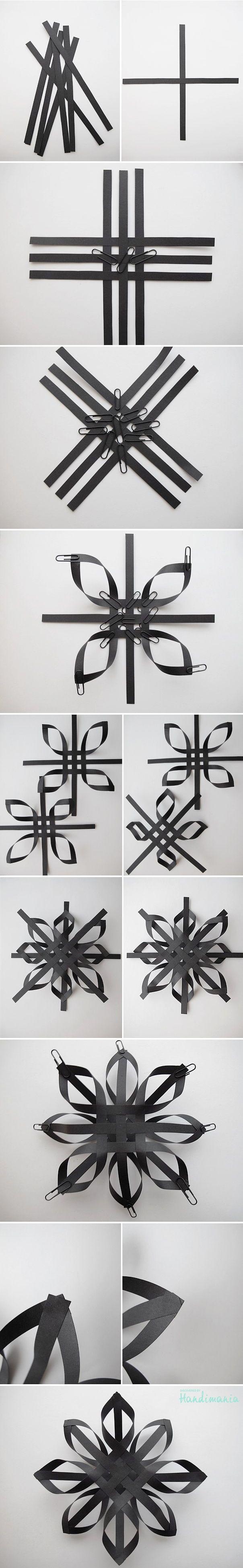 Black Paper Snowflake: