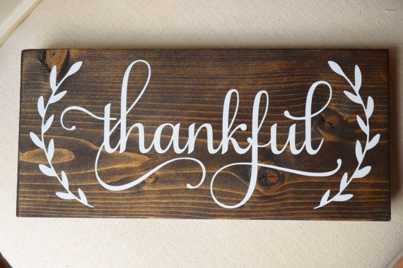 Thankful sign Thanksgiving sign thankful wood by SweetElodieGrace