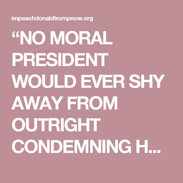 """""""NO MORAL PRESIDENT WOULD EVER SHY AWAY FROM OUTRIGHT CONDEMNING HATE, INTOLERANCE AND BIGOTRY,"""" REP. STEVEN COHEN (D-TENN.) SAID.  Today, Rep. Steve Cohen (D-Tenn),ranking member of the House Judiciary Subcommittee on the Constitution and Civil Justice,announced that he will introduce articles of impeachment against the president, stating that Trump had """"failed the presidential test of moral leadership."""""""