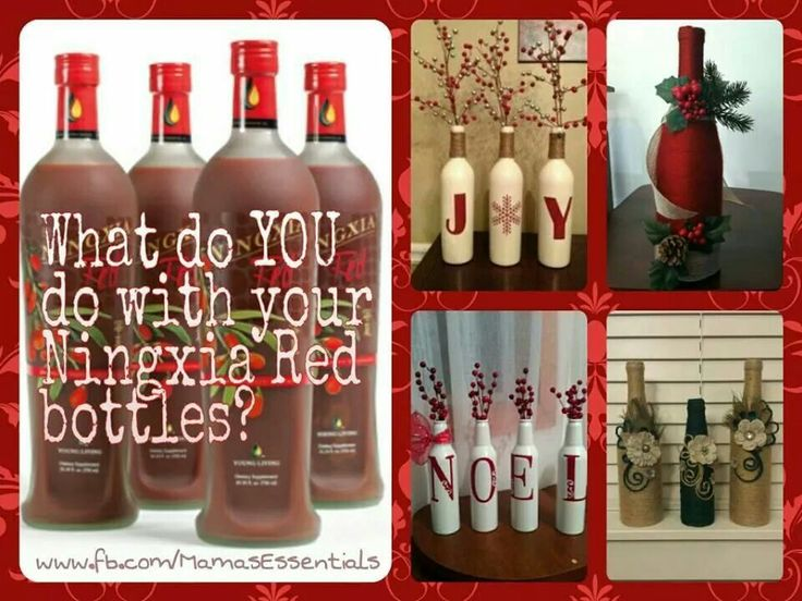 Ningxia Red bottle uses! Yay! Don't want to throw these bottles out.... they're so beautiful!