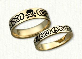 14kt Yellow Gold Custom Skull Crossbones