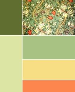 William Morris - Golden Lily Minor; 1896.