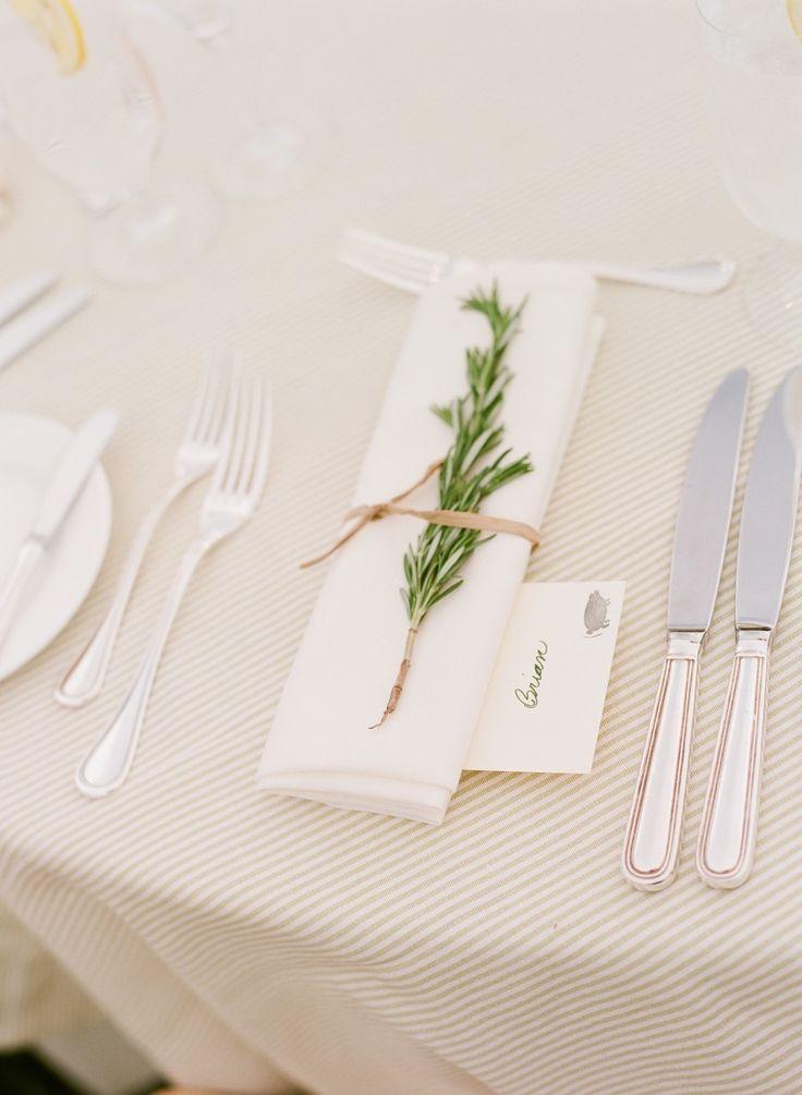 Wedding Place Setting | Sprig of Rosemary