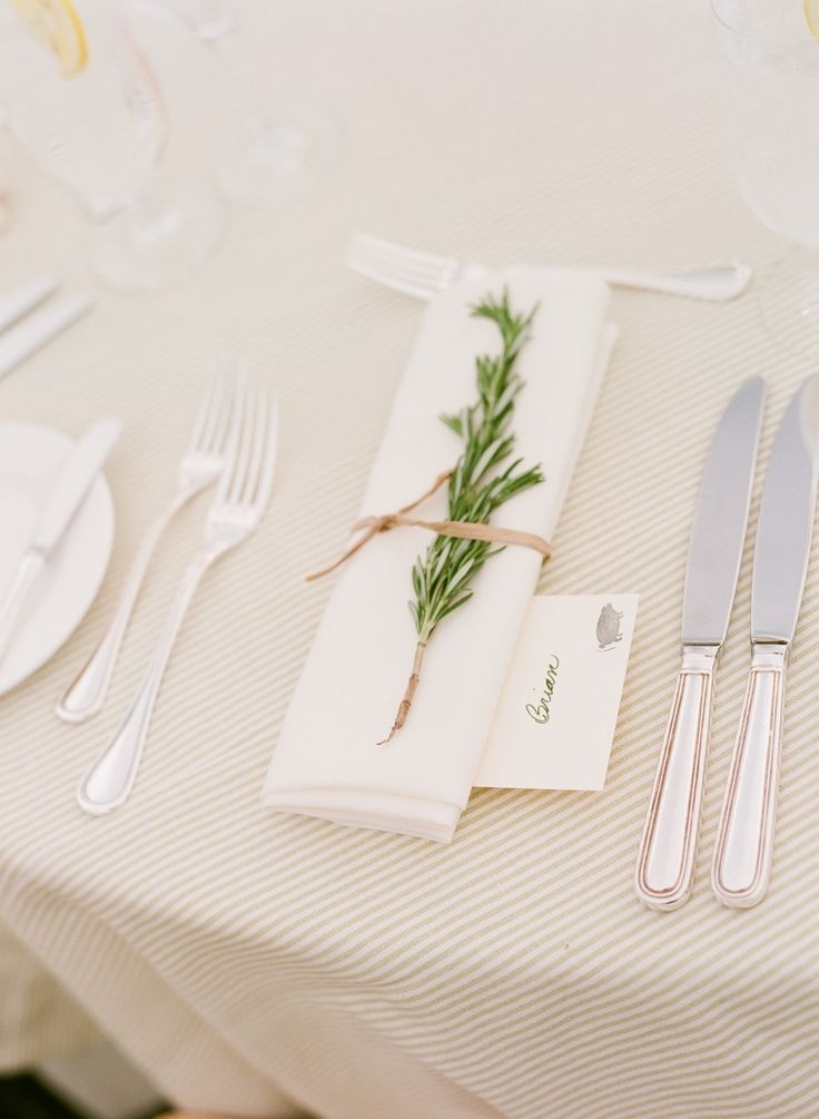 Wedding Place Setting | Sprig of Rosemary