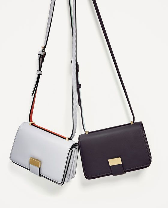 ZARA - WOMAN - TWO-TONE CROSSBODY BAG b3ac68b35ba25