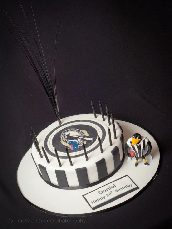 Collingwood Magpies AFL Birthday Cake