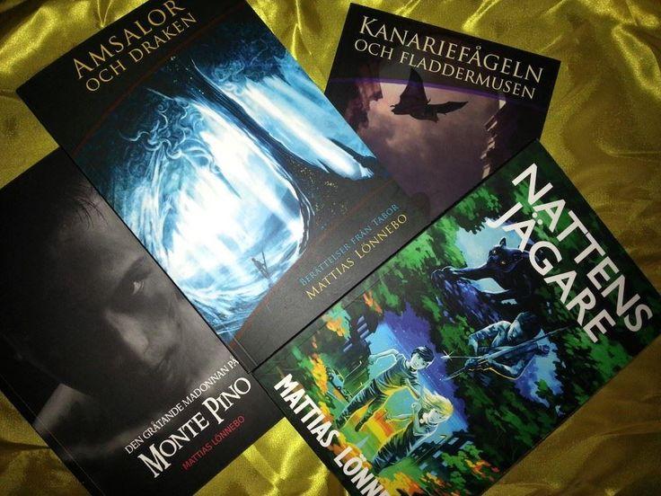 Annons på Tradera: Paket med nya och signerade fantasyböcker