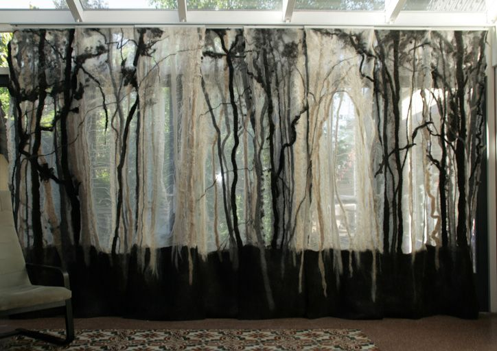 Sheer, felted panels by Adrian Salome.