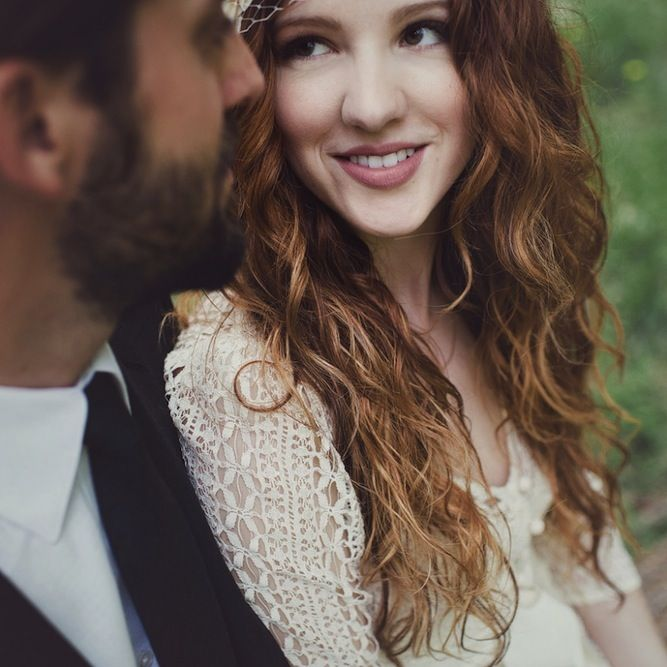 Bride  Groom Photo Shoot: Bohemian Romance In The Woods | Bridal Musings | A Chic and Unique Wedding Blog