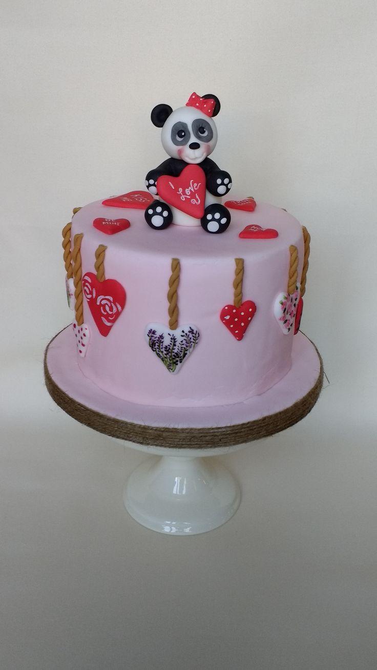 Panda Love Cake