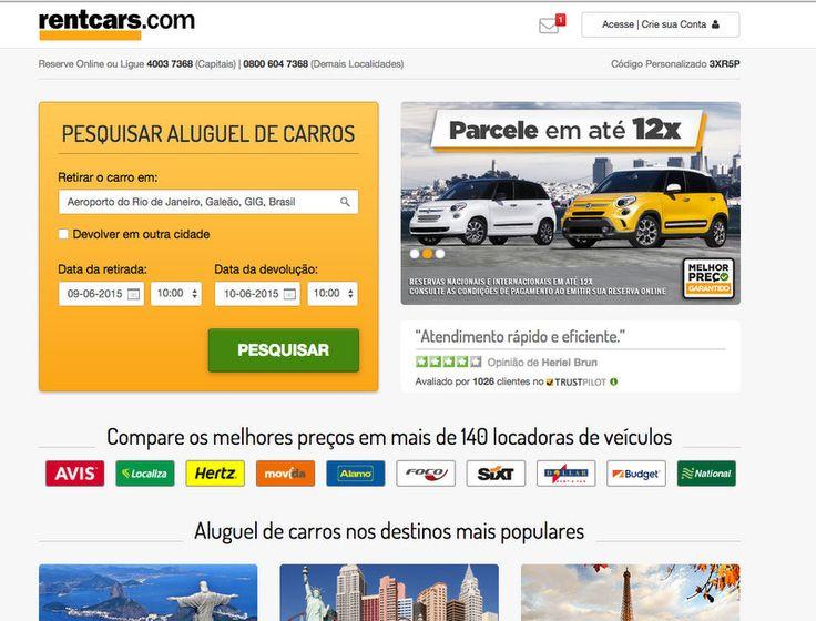 Alugando carro no Rio de Janeiro com a Rentcars
