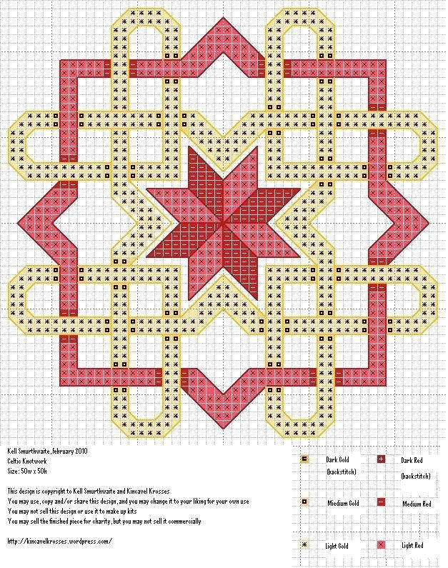 Celtic Knotwork -- this is a cross stitch pattern, but could adapt as a quilting pattern
