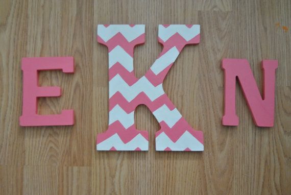 Monogram Wooden Letters Made To Order By DreamThread On