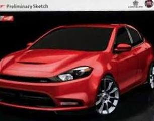 Leaked Pic Claims to Be Dodge Dart SRT 4 Preliminary Sketch