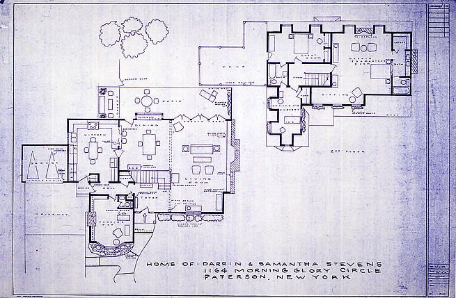 22 best blueprints of imaginary homes images on pinterest floor home of darrin and samantha stevens 1995 lithograph on rives bfk paper mark bennett malvernweather Image collections