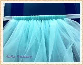 """How to Make a Tulle Tutu Skirt  *I used about 10 yards of tulle on the bolt total to make a full tutu.  I cute the peices to be approximately 22x7"""".  I used 3 different colors and it turned out really cute!*"""