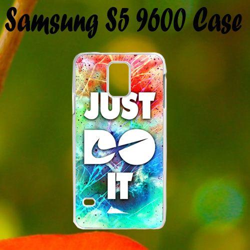 Nike Cracked Out Galaxy Nebula Samsung S5 i9600 Case, Plastic Case, Best Case