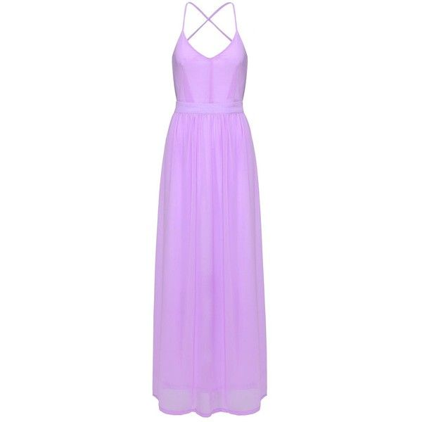 Yoins  Open Back Maxi Dresses (32 CAD) ❤ liked on Polyvore featuring dresses, purple, open back cocktail dress, v neck dress, purple maxi dress, v neck maxi dress and purple cocktail dresses