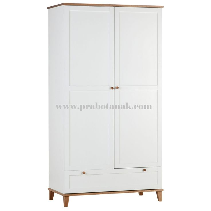 Lemari pakaian anak putih dua pintu dngan 2 pintu model minimalis sangat cocok utnuk melengkapi hunian kamar anak bunda, juga bisa untuk anak dewasa dan urb