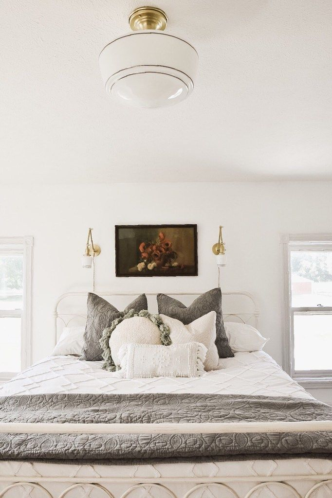 Master Bedroom Makeover New Wall Sconces Cottage Style