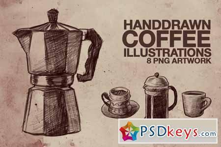 Hand Drawn Coffee Illustrations 82596