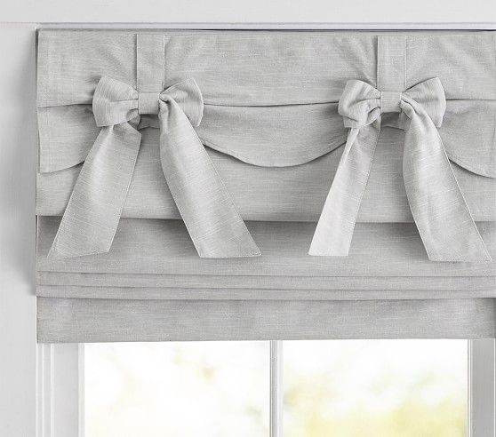 Bow Valance Roman Shade In 2020 Girls Room Curtains