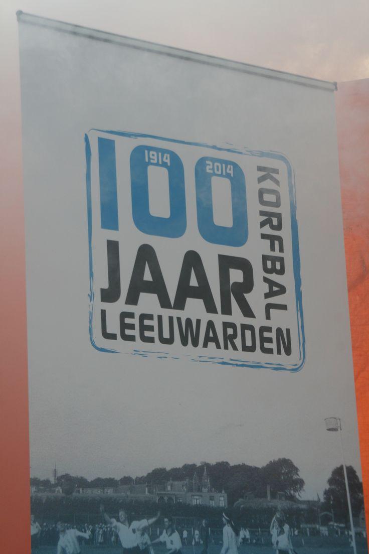 100 jaar korfbal in Leeuwarden - logo