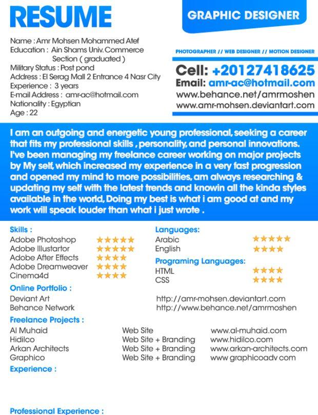 17 Amazing Examples Of CV/Resume Design  Resume Designer Online