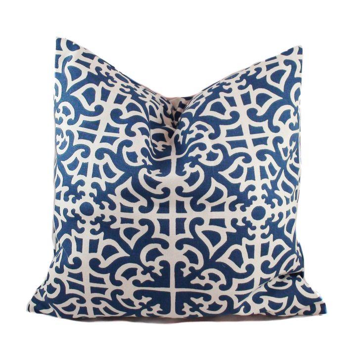 blue throw pillow covers decorative pillows for couch sofa pillow shams toss pillows cushions 16x16 18x18 20x20 22x22 24x24 26x26