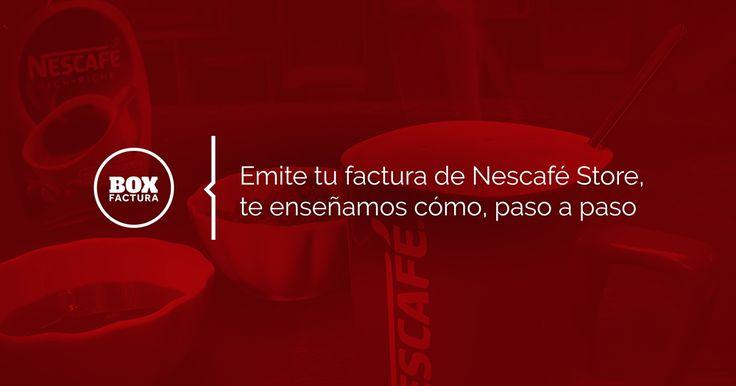Un rico café de Nescafé Store y tu factura?