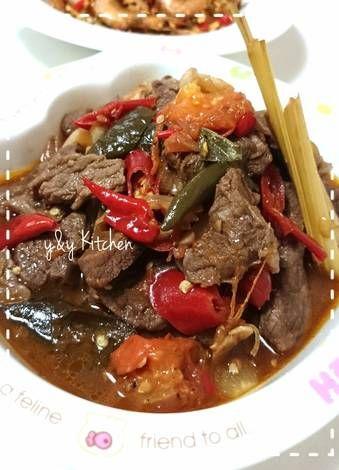 Tumis daging sapi sandung lamur